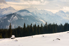 High Tatra mountains. Winter view of frozen surface of High Tatra mountains Stock Image