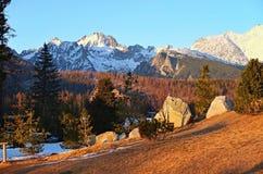High Tatra. Strbske Pleso village in High Tatra mountains, Slovakia Royalty Free Stock Photography