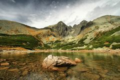 High Tatras. Lomnicky stit mountain in High Tatras in Slovakia Stock Images