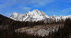High Tatras as viewed from the valley Stock Photos