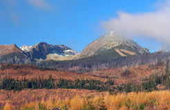 High Tatras in autumn, Slovakia stock photography