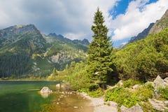 High Tatras - The coast of Popradske Pleso lake Stock Photos
