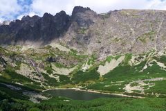 High Tatras - landscape. High Tatras's mountains - Bielanske pleso (mountain lake Royalty Free Stock Image