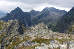 High Tatras - landscape. High Tatras's mountains - Lomnicky's peak mountain - look from Lomicky's saddle Stock Images