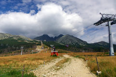 High Tatras - landscape. High Tatras's mountains - Lomnicky's peak mountain - view of the Tatra's boast Royalty Free Stock Image