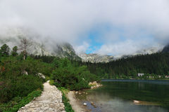 High Tatras - landscape. High Tatras's mountains - Mountain lake - Popradske pleso Stock Photos