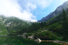 High Tatras - landscape. High Tatras's mountains - mountain lake of Popradske pleso Stock Photos