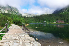 High Tatras - landscape. High Tatras's mountains - mountain lake of Popradske pleso Royalty Free Stock Image
