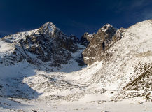 High Tatras - Lomnicky Peak (2634 m). Winter scenery of High Tatras Stock Photo