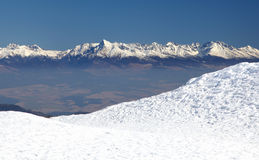 High Tatras from Low Tatras mountains, Slovakia Stock Photography