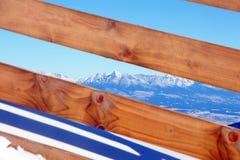 High Tatras from Low Tatras mountains, Slovakia Stock Photo