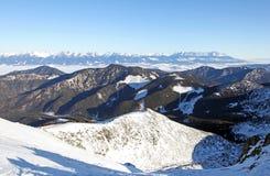 High Tatras from Low Tatras, Slovakia Royalty Free Stock Photos