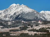 High Tatras massif in winter Royalty Free Stock Photos