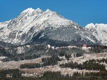 High Tatras massif in winter Royalty Free Stock Photos
