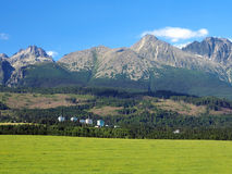 High Tatras and meadow in Slovakia stock images