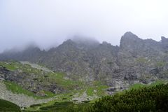 High tatras in the mist Stock Images