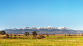 High Tatras Mountain Range Royalty Free Stock Photos