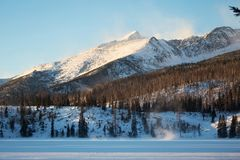 Winter view of the snowy High Tatras mountains near Stbske Pleso lake, Slovakia. royalty free stock images