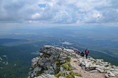 High tatras mountain view. Beautiful view of Predne Solisko, high tatras mountains in slovakia stock photo