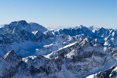 High Tatras mountains. Panorama view to the west of High Tatras mountains, Slovakia Royalty Free Stock Images