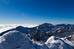High Tatras mountains. Panorama view to the west of High Tatras mountains, Slovakia Royalty Free Stock Photo