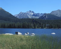 High tatras mountains. Strbske pleso, high tatras, slovakia stock photo