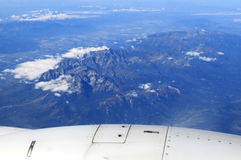 High Tatras mountains from airplane, Slovakia Stock Photos