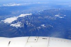 High Tatras mountains from airplane, Slovakia Stock Photos