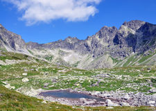 The High Tatras mountains and lake, Slovakia, Europe Royalty Free Stock Photography