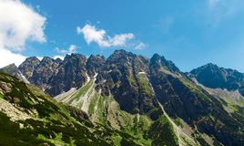 High tatras mountains Slovakia Mountain panoramic landscape Stock Images