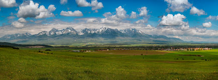 High Tatras mountains in Slovakia. High Tatras, Slovakia in spring Stock Image