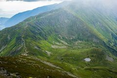 High Tatras Mountains, Slovakia in Summer with clouds royalty free stock photography