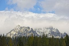 High Tatras mountains at Strbske Pleso royalty free stock images