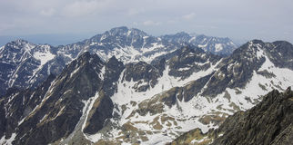 High Tatras panorama from  Lomnicky peak view point Stock Photography