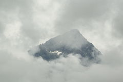 High Tatras peak in mist Royalty Free Stock Photo