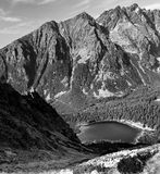 High Tatras - Popradske Pleso. High Tatras. A view from the saddle Ostrva (1 959 m n.m Stock Photo