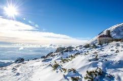 The High Tatras, Slovakia. Cold sunny morning Stock Photos