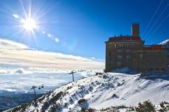 The High Tatras, Slovakia. Cold sunny morning Royalty Free Stock Photography