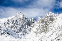 The High Tatras, Slovakia. Cold sunny morning Stock Photography