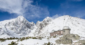 The High Tatras, Slovakia. Observatory in the mountains. The High Tatras, Slovakia Stock Photography