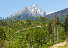 High Tatras (Slovakia) spring view. Royalty Free Stock Images