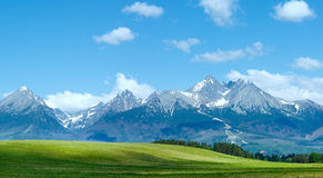 High Tatras (Slovakia) spring view. Stock Photography