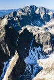 High Tatras, Slovakia. View from Lomnicky Peak, Vysoke Tatry (High Tatras), Slovakia Stock Image