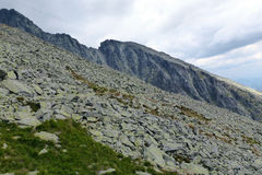 High Tatras - stone field. High Tatras's mountains - stone field Royalty Free Stock Photo