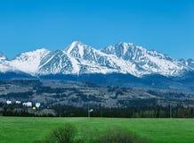 High Tatras with Tatranska Strba town Royalty Free Stock Image