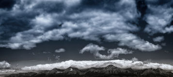 High Tatras. From the window, Poprad, Slovakia Royalty Free Stock Image