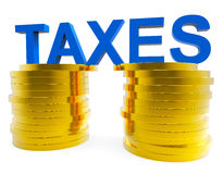 High Taxes Means Duties Duty And Taxpayer. High Taxes Representing Duties Levy And Taxation Stock Photography