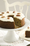 High Tea with Carrot cake Royalty Free Stock Photo
