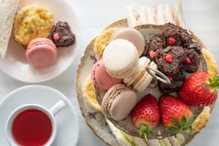 Free High Tea From Above Stock Photos - 159886823