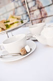 High tea with sandwiches Stock Photo